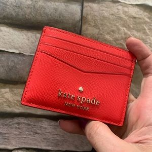 Authentic Kate Spade Crosshatched leather card cs